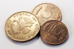 Russian rouble coins Stock Photography