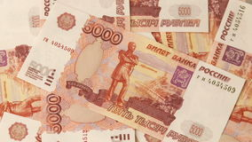 Russian roubles stock video