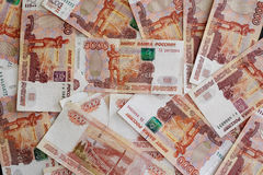 Russian roubles Stock Images