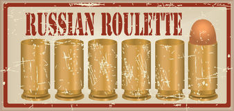 Russian roulette one fitted out the cartridge Royalty Free Stock Images