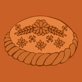 Russian round loaf Royalty Free Stock Photos