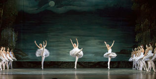 Russian royal ballet perfome swan ballet Royalty Free Stock Photography