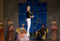 Russian royal ballet perfome swan ballet Stock Images