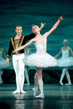 Russian royal ballet perfome Swan Lake Royalty Free Stock Images