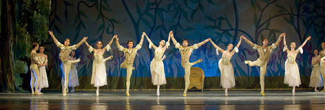 Russian royal ballet perform Swan Lake Royalty Free Stock Images
