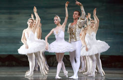 Russian royal ballet perform Swan Lake ballet Royalty Free Stock Images