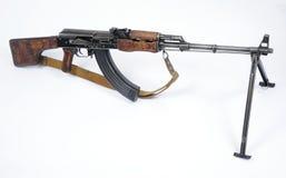 Russian RPK machine gun. The RPK Ruchnoy Pulemyot Kalashnikova Russian machine gun. A 7.62x39mm squad level light machine gun of Soviet design Stock Images