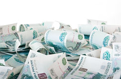 Russian Ruble. Background of thousandths of notes. Russian Ruble Stock Images