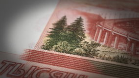 Russian Ruble Close-up stock video