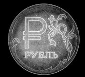 Russian ruble closeup Royalty Free Stock Photography