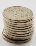 Russian ruble coins closeup Stock Photos