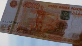 Russian Ruble stock video footage