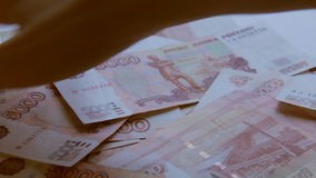 Russian Ruble stock video