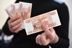 The Russian ruble Stock Images