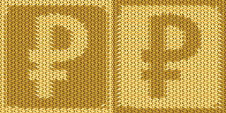 Russian ruble sign, symbol Royalty Free Stock Images