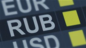 Russian ruble unchanged, world exchange market, currency rate fluctuating. Stock photo royalty free stock photography