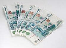 Russian rubles Stock Photos