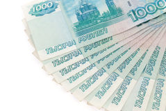 Russian rubles banknotes Stock Images