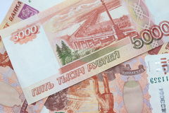 Russian rubles Stock Image
