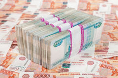 Russian rubles bills Royalty Free Stock Photo