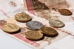 Russian rubles Stock Photo