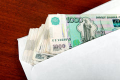 Russian Rubles in Envelope Stock Photos