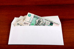 Russian Rubles in Envelope Stock Photography