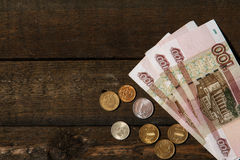 Russian rubles Stock Photography