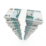 Russian rubles stack Stock Photo