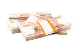 Russian rubles Royalty Free Stock Photography