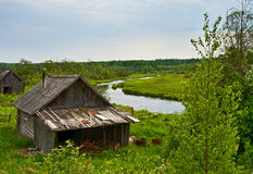 Russian rural bath Stock Photography