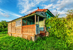 Russian rural house Stock Images