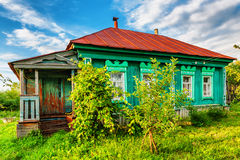 Russian rural house Stock Photography