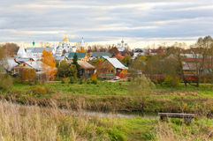 Russian Rural Landscape With Domes Royalty Free Stock Image