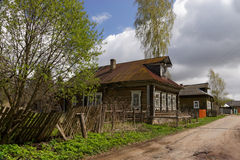Russian rural street. Russian rural street with old buildings Stock Image