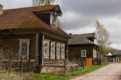 Russian rural street. Russian rural street with old buildings Royalty Free Stock Image