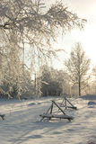 Russian rural winter landscape royalty free stock images