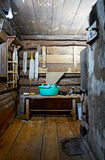 Russian rustic bath-house Royalty Free Stock Images