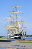 Russian sail training ship Kruzenshtern. Kaliningrad Royalty Free Stock Photography