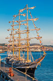 Russian sailing frigate Royalty Free Stock Photography