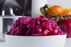 Russian salad with beetroot Stock Photo