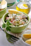 Russian salad in the bowl Stock Image