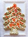 Russian Salad Christmas xmas Tree shaped. Russian Salad Christmas or xmas Tree shaped Royalty Free Stock Photos