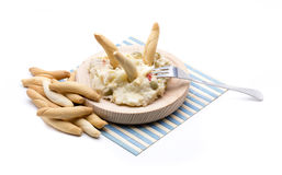 Russian salad food. A russian salad food, typical andalusian Stock Photography