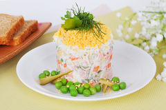 Russian salad olivie Stock Images