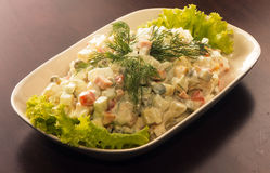 Russian salad Olivie Royalty Free Stock Photography
