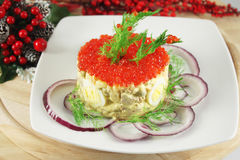 Russian Salad Olivier Royalty Free Stock Photo