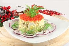 Russian Salad Olivier Stock Photos