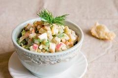 Russian salad olivier Stock Photos