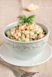 Russian salad olivier Stock Photo